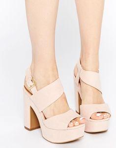 New Look – Sandalen mit hohem Plateau-Absatz, weite Passform