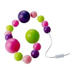 This decorative light chain with colored balls in different sizes creates a unique atmosphere in the room. Uses LEDs, which consume up to 85% less energy and last 20 times longer than incandescent bulbs. You can place it on the floor to light up a corner of the room, on a desk, in a bookshelf – or hang it on the side of a window.