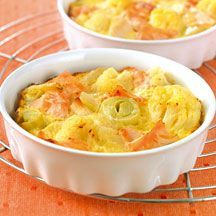 Clafoutis de saumon aux légumes Mashed Potatoes, Macaroni And Cheese, Seafood, Nutrition, Cooking, Ethnic Recipes, Desserts, Galette, Ainsi