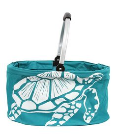 Look what I found on #zulily! Sea Turtle Folding Market Basket #zulilyfinds - I love this!