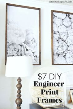 17 Best ideas for wall decored cheap diy engineer prints Diy Wand, Diy Home Decor On A Budget, Decorating On A Budget, Large Picture Frames, Diy Picture Frame, Large Frames, Diy Wooden Picture Frames, Cheap Frames, Diy Holz