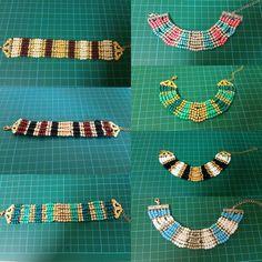 Beads bracelets discovered by Tania Simao on We Heart It Seed Beads, Friendship Bracelets, We Heart It, Beaded Bracelets, Craft, Handmade, Fashion, Moda, Hand Made