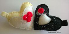 Handmade in Jerutki: Weselne serduszka breloczki / Felt Hearts