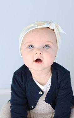 Baby Headbands, Set of 3, Organic Cotton Stretchy Headbands, Newborn Photo Shoot Prop. $29.80, via Etsy.