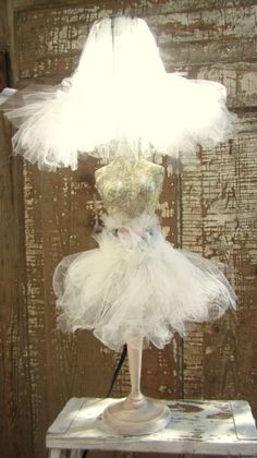 Hand crafted/ Hand made dress form lamp by CircusGate on Etsy