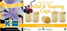 Chocolate Cups by Kane Candy. Premium Quality White Chocolate Cordial & Toasting Cups. Fun for parties, wine tastings, weddings, holiday events and more!  www.KaneCandy.com