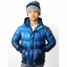 Appaman Puffy Coat in Pacific Blue