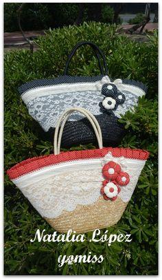 yomiss: - VISTIENDO CAPAZOS II Crochet Handbags, Crochet Purses, Crochet Lace, My Bags, Purses And Bags, Fundraising Crafts, Hessian Bags, Beach Basket, Lace Bag