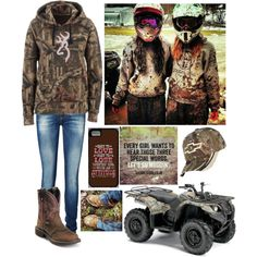 Ootd: Muddin' with the Best Friend by fashionstarkaylie on Polyvore featuring Vero Moda, Xirena, Hanky Panky, Justin Boots and country