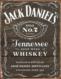 TIN SIGN Jack Daniel's - Weathered Logo