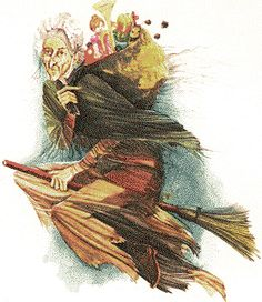 La Befana, the Christmas witch in Italian lore who brings presents to children on the Epiphany