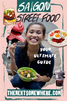 """In this """"Food Finds,"""" learn all about Saigon street food, introduced by locals. This guide is for people looking to dive deeper into Vietnamese cuisine. Vietnamese Cuisine, Vietnamese Recipes, Bun Cha, Banh Xeo, Fresh Spring Rolls, Rice Vermicelli, Fish Sauce, Fresh Herbs, Street Food"""