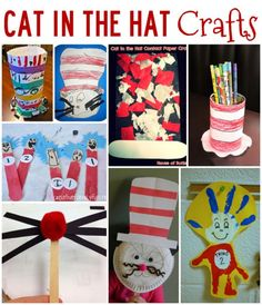 Fun Cat in the Hat crafts to celebrate Dr. Seuss's Birthday! 20 Cat in the Hat Activities!