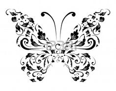Butterfly Silhouette For You Design Stock Vector - Illustration of idea, insect: 7714779 Sister Tattoos, Stencil Designs, Quilt Sets, Free Illustrations, Duvet Cover Sets, Silhouette, Butterfly, Black And White, Wall Art