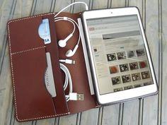 Custom IPAD Mini/Retina Leather Portfolio by HarborLeatherGoods