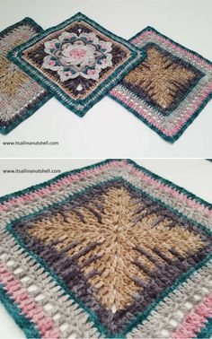Crochet Afghan Squares Pattern (Nuts about Squares CAL – Week 8)