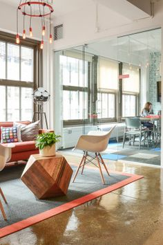 Homepolish Interior Design | Appboy's Sunny, Airy, Fun(ny) Office