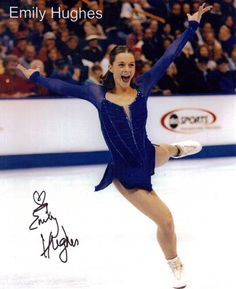 Emily Hughes -Blue Figure Skating / Ice Skating dress inspiration for Sk8 Gr8 Designs.