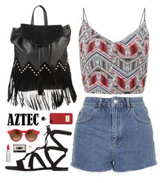 """""""Aztec prints"""" by elly3 ❤ liked on Polyvore featuring Topshop, Gianvito Rossi, Givenchy, KRISVANASSCHE, MICHAEL Michael Kors, David Yurman, contestentry, aztecprints and polyvorecontest"""