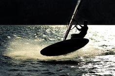 Windsurf on Garda lake, Italy. Spot: Malcesine. My style is surf-style!