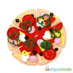 Listo para enviar  Pizza juego de sentía sentía la comida