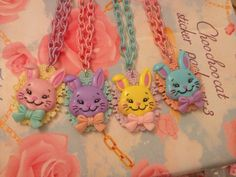 Pastel Bunny FairyKei Necklace Choose one by zefora on Etsy, $16.00