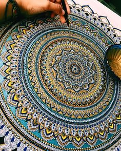 Elaborate Mandala Designs Gilded with Gold Leaf by Artist Asmahan Mosleh.|CutPasteStudio| Illustrations, Entertainment, beautiful,creativity, Art,Artist, Artwork,Gold Leaf, mandalas, painting.