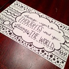Inspirational quote hand drawn print on Etsy, $8.00