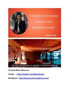 Bryan artawijaya susilo    provides real estate services by PatriciaMirawati07 via slideshare https://twitter.com/bryansusilo77