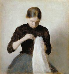 Vilhelm Hammershøi(1864ー1916 Danish painter)