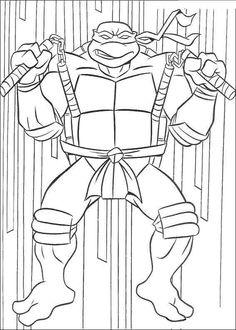cool ninja turtle cartoon coloring pages check more at http ... - Ninja Turtle Pizza Coloring Pages