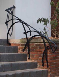 Contemporain  : bonne idée à retenir Wrought iron ramp