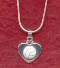 Heart necklace with a netball
