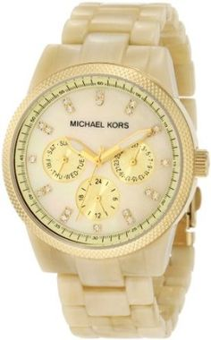 Michael Kors Women's MK5039 Ritz Horn Watch-- 22% DISCOUNT for a limited time!--->  http://amzn.to/14JbNHz