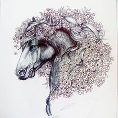 """""""Ho tirato su l occhio e non è stato facile: l inchiostro non si cancella. Aihaihaih a vere il marito appassionato di cavalli   #art_spotlight…"""""""