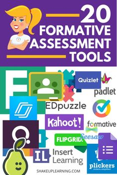 In this post, you will find 20 Formative Assessment Tools for Your Classroom! Formative assessment is such an essential part of the learning process and student success, and many digital tools… Formative Assessment Strategies, Teaching Strategies, Teaching Tools, Teaching Resources, Kindergarten Assessment, Classroom Assessment Techniques, Newborn Assessment, Teaching Biology, Learning