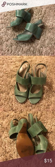 Bakers Adorable Heels SeaFoam Green Size 8 Bakers Adorable Heels SeaFoam Green Size 8 Bakers Shoes Wedges