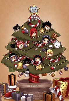 """Fairy Tail"" Christmas tree"