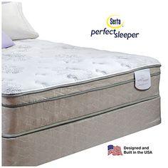 Serta Perfect Sleeper Davis Eurotop Premium Quality Queen Mattress Box Spring Set At