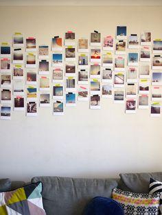 Instagram en polaroid foto's in huis