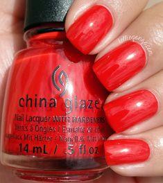 China Glaze — The Heat is On (Desert Escape Collection China Glaze, Nails 2015, Red Jelly, Nail Polish Brands, Nail Blog, Brand Me, Orange, Beauty Hacks, Beauty Tips