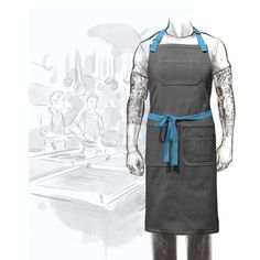 The O.G. Long Chef Apron is a throwback to the classic below-the-knee cut. This apron is simple and classy and can be designed in any of our different colors of