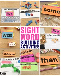 Make sight words fun by using art to teach sight words! These sight word activities are hands-on and perfect for kindergarten and first grade. Teaching Sight Words, Sight Word Practice, Sight Word Activities, Teaching Phonics, Free Activities, Teaching Reading, Reading Fluency, Guided Reading, Teaching Ideas