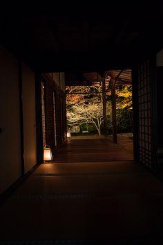 """京都・南禅寺 夜の天得院。 Night of """"Tentokuin"""" in Nanzen-ji Temple of Kyoto japan. Japanese Interior Design, Japanese Design, Beautiful World, Beautiful Places, Japanese Architecture, Pavilion Architecture, Sustainable Architecture, Residential Architecture, Contemporary Architecture"""