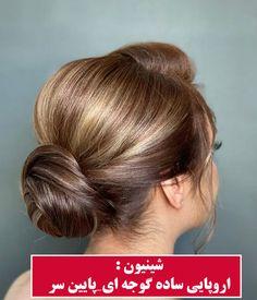 مدل شینیونمدل اروپایی ساده گوجه ای_پایین سر Chignon Hair, Collection