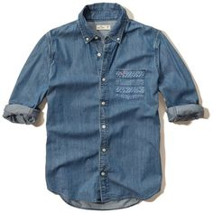 Guys Shirts Tops ❤ liked on Polyvore featuring tops, blue top, hollister co., shirts & tops, hollister co shirts and blue shirt