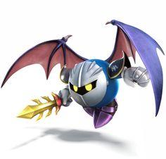 Main page for Super Smash Bros. for Nintendo / Wii U and Meta Knight. Super Smash Bros Brawl, Super Smash Flash, Super Mario Bros, Nintendo 3ds, Wii U, Meta Knight, Knight Art, Kirby Character, Game Character Design