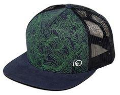 tentree Terra Trucker Hat Blue Shadow Hats 78fcba2bd1