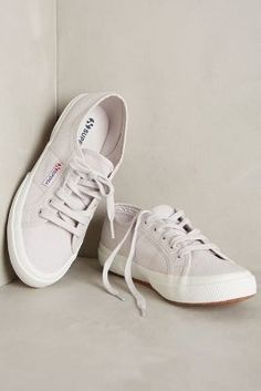 Superga Classic Canvas Sneakers Grey Seashell #AnthroFave