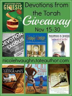 Devotions from the Torah Giveaway - Homeschool Encouragement